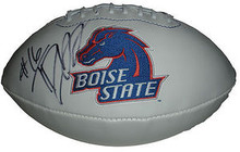 Titus Young Signed Boise State Broncos Logo Football