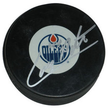 Corey Potter Signed Edmonton Oilers Hockey Puck