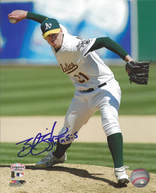 Brad Ziegler Autographed Oakland A's Home Action 8x10 Photo