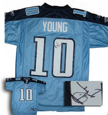 Vince Young Signed Tennessee Titans Home Jersey