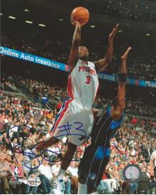 Rodney Stuckey Autographed Detroit Pistons 8x10 Photo