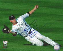 Brad Hawpe Autographed Colorado Rockies Fielding 8x10 Photo