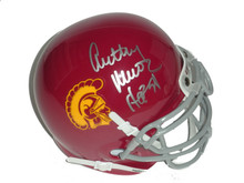 Anthony Munoz Signed USC Trojans Schutt Mini Helmet