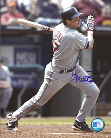 Aaron Boone Autographed Cleveland Indians Road 8x10 Photo
