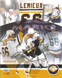 Mario Lemieux Autographed Pittsburgh Penguins 8x10 Photo 1733/6600