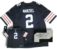 Johnny Manziel Signed Cleveland Browns Nike Replica Jersey Full Signature