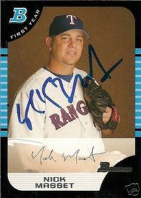Cincinnati Reds Nick Masset Signed Bowman Rookie Card
