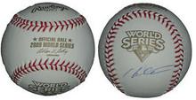 Hideki Matsui Signed 2009 World Series Baseball Yankees JSA