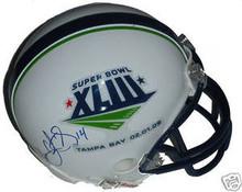 Limas Sweed Signed Super Bowl 43 Mini Helmet Steelers