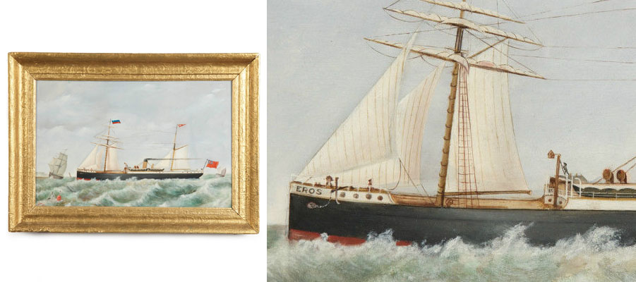 British Antique Nautical Painting