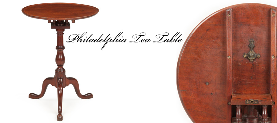 American Queen Anne Tea Table