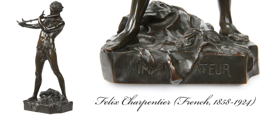 Felix Charpentier Antique French Bronze Sculpture
