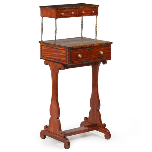 English Regency Mahogany Ladies Writing Desk, 19th Century