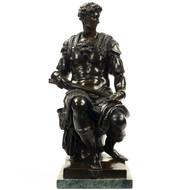 Bronze Sculpture of Giuliani de Medici after Michelangelo, 19th Century