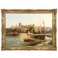Robert W. Marshall Landscape Painting of Windsor Castle