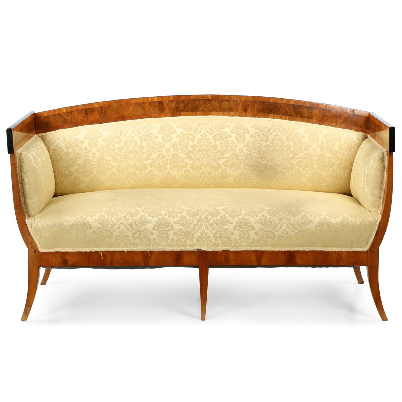 Biedermeier fruitwood antique sofa canape c 1830 Biedermeier sofa