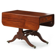 American Classical Mahogany Library Table, New York c. 1820