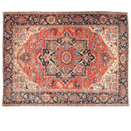 Fine Authentic Antique Heriz Persian Rug Carpet c. 1910