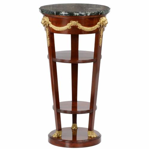 French Empire Doré Bronze Mahogany Side Table