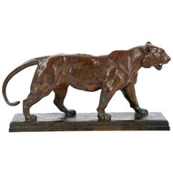 Antoine-Louis Barye French Bronze Sculpture of Tigre Qui Marche, F. Barbedienne