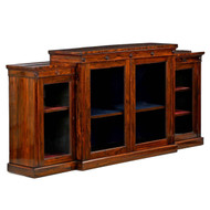 English Regency Rosewood Breakfront Cabinet, Holland & Sons c. 1880