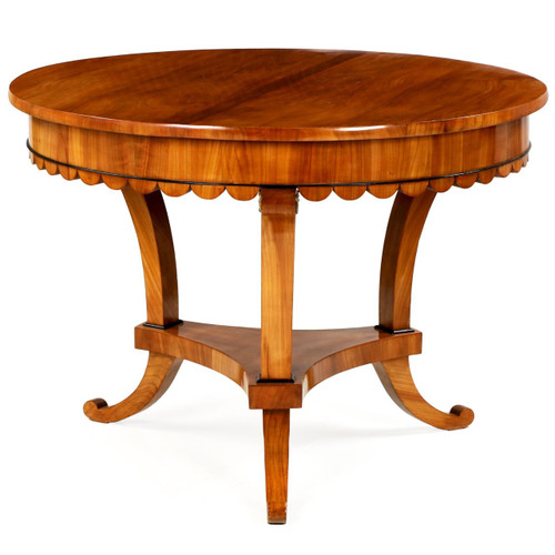 Biedermeier Cherry Center Table, Austria, 19th Century