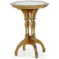 Aesthetic Movement Giltwood Mirrored Side Table