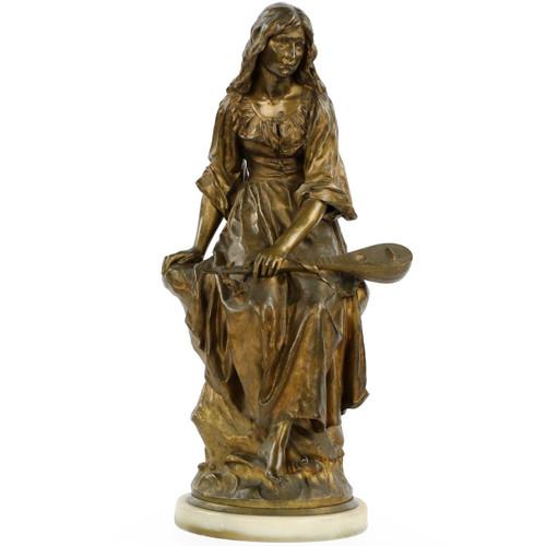 Paul Eugéne Mengin (French, 1853-1937) Bronze Sculpture of Mignon, Susse Freres