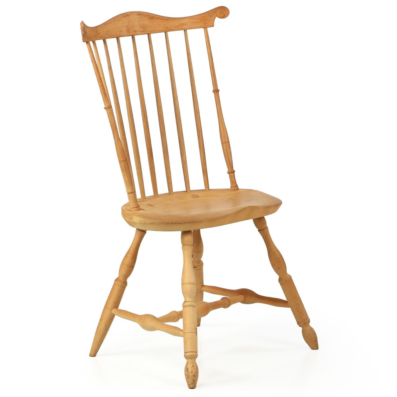 american lancaster style fanback windsor side chair 20th century