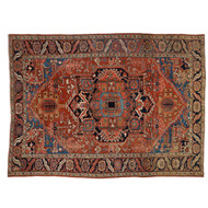 Authentic Semi Antique Heriz Persian Rug Carpet c. 1920