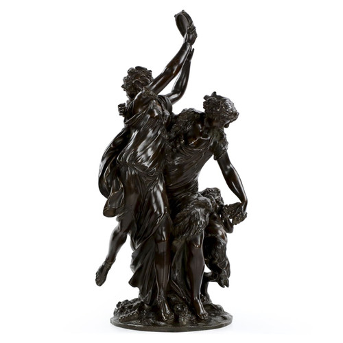 "Bronze Sculptural Group after Michel Clodion, ""Bacchanalia"""
