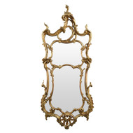 Louis XV Style Carved Giltwood Antique Mirror, Mid 19th Century