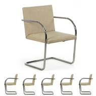 Six Mies van der Rohe for Knoll BRNO Dining Chairs