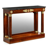 Substantial Empire Rosewood Ormolu Pier Table Console, France c. 1820