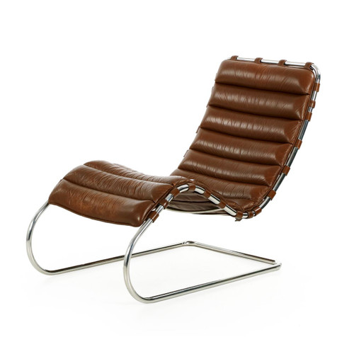 Mies van der rohe for knoll mr chaise lounge c 1980 - Chaise mies van der rohe ...