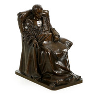 "Vincenzo Vela (Italian, 1820-1891) ""Last Days of Napoleon"", Bronze, Barbedienne"