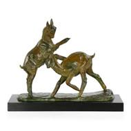 """Art Deco Bronze by Irénée Rochard of """"Combat de Chevreaux"""""""