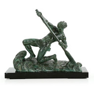 """Art Deco Sculpture of """"The Rower"""" by Alexandre Ouline"""