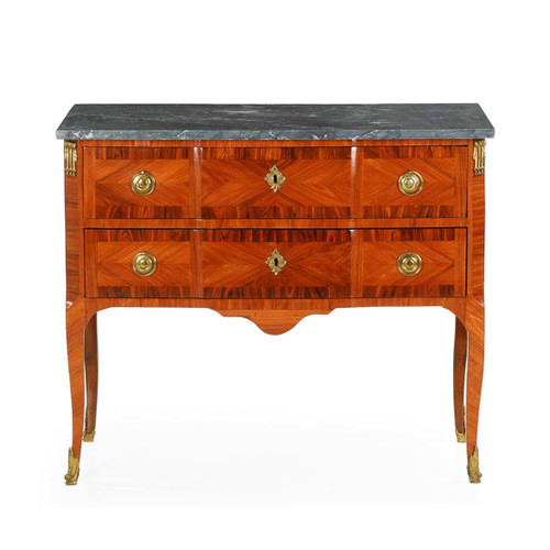 French Louis XV Kingwood Commode, 19th Century