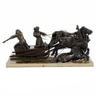 """Albert Moritz-Wolf (Russian, 1854-1923) Bronze Troika Group """"Huntsmen"""""""