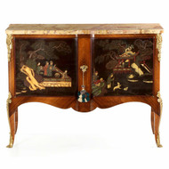 Exceptional Louis XV Style Chinoiserie Cabinet, 19th Century