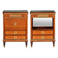 Pair of French Nightstand Cabinets by Maison Krieger c. 1880