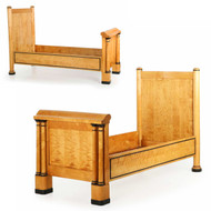 Rare Pair of Biedermeier Ebony and Birch Beds, Swedish c. 1840