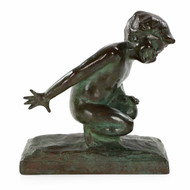 "E.B. Parsons (American, 1878-1956) Bronze Sculpture ""Playful Youth"""
