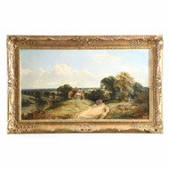 """Sussex Landscape"" Painting by Edwin L. Meadows (British, fl. 1854-72)"