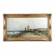 Eduard Fischer (German, 1852-1905) Seascape Painting c. 1884