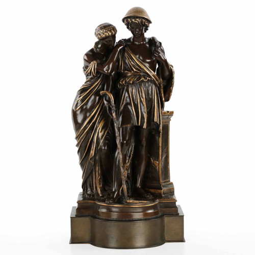 """Bronze Group """"Bergers d'Arcaadie"""" after Eugene Aizelin"""