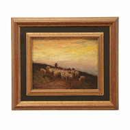 Francis Wheaton (American, 1849-1942) Barbizon Painting of Sheep