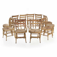 "Eleven American Sheraton ""Fancy"" Painted Chairs, New York c. 1815-30"