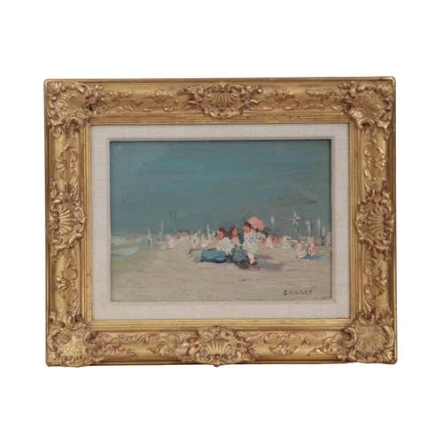 "Jaime E. Carret (American, 1878-1941) ""Beach Scene"""
